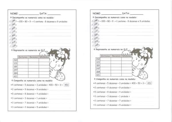 Composição e Decomposição de Números-CDU