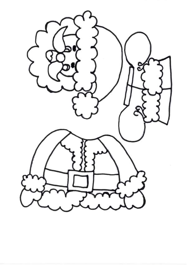 Caça-Palavra e Papai Noel para Colorir e Montar-Folha 1