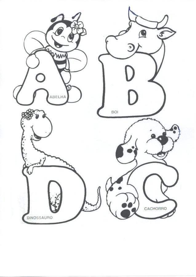 Alfabeto animais-Parte 1-Folha 1