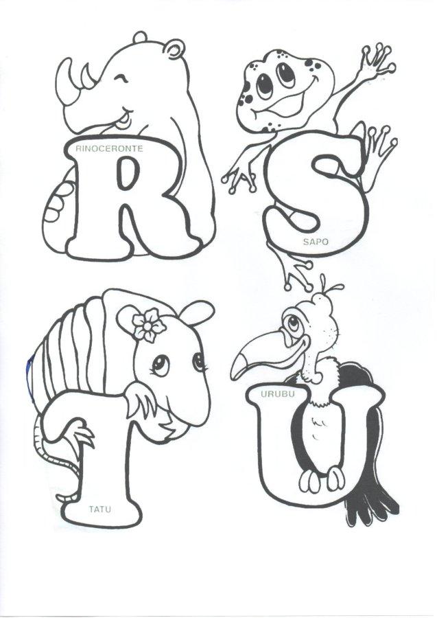 Alfabeto-Animais-Parte 2-Folha 1
