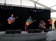 Paper Aeroplanes at Hay on Wye Festival, Wales