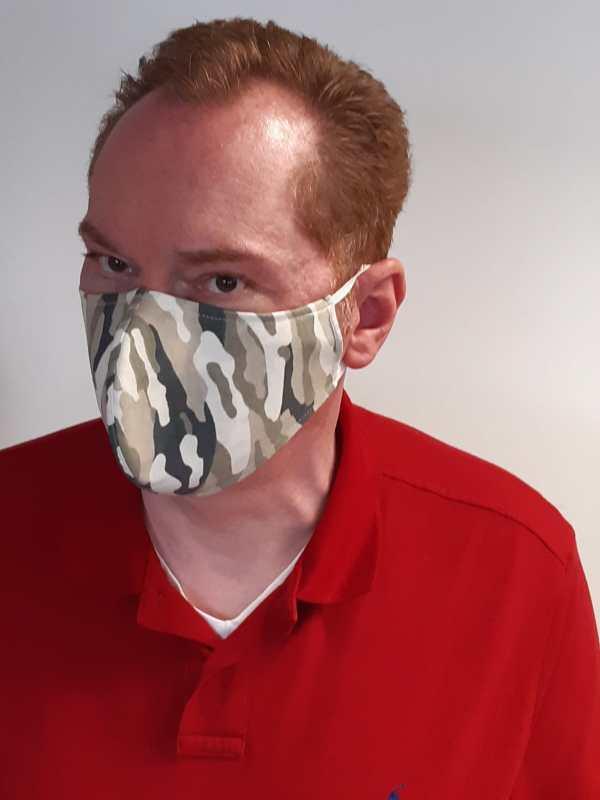 Mundschutzmaske Camouflage Extra Gross