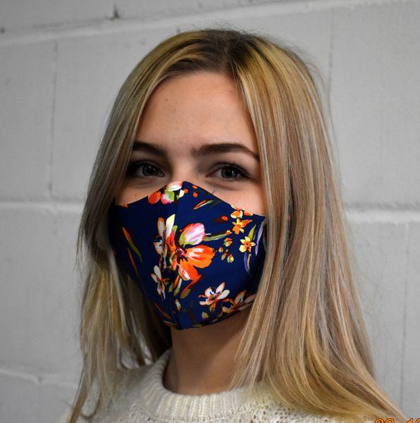 Schutzmaske,Mundschutz Gesichtsmaske Blau-Blumen
