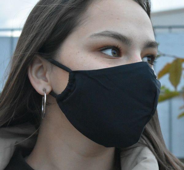 Schutzmaske,Mundschutz Gesichtsmaske schwarz