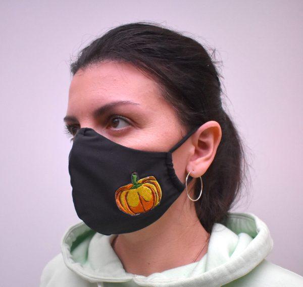 Mundschutz,Schutzmaske mit Stickerei Kürbis