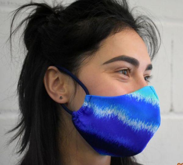 Schutzmaske ,Mundschutz, Gesichtsmaske blau Nordlichter