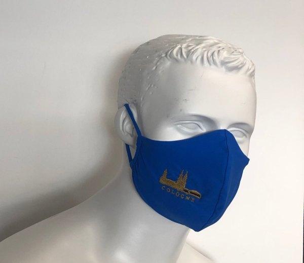 Mundmaske Schutzmaske blau Cologne Köln