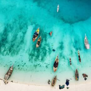 beautiful beach of Zanzibar, Africa