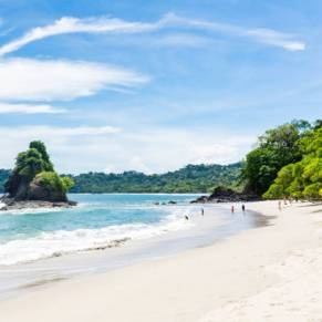 Beautiful white sandy beach in Costa Rica.