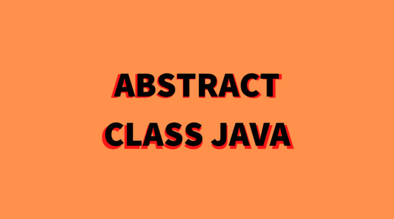 abstract class java