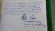 Mensajes de apoyo al portero del Astorga por parte de la afición racinguista en el día de su retirada.