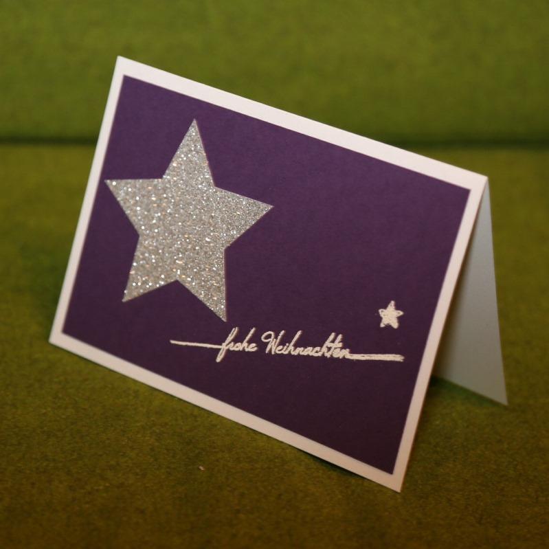 Weihnachtskarte mit grossem Stern
