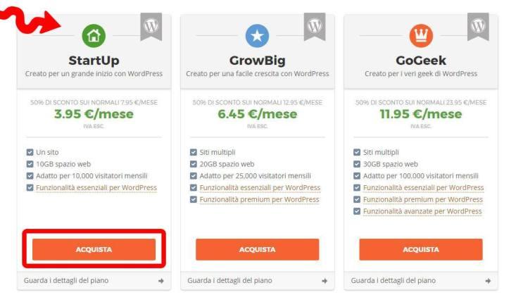 Acquistare hosting wordpress parte 1