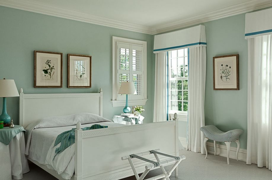 обои мятного цвета фото площадь комнаты