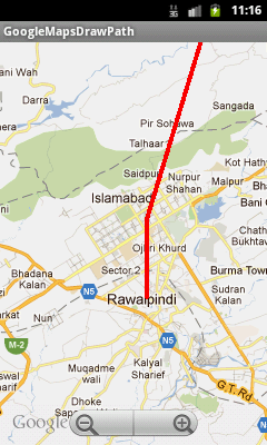 Android Google Maps Tutorial Part 7, Drawing A Path or Line Between Two Locations (2/3)