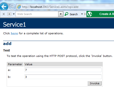 Creating a simple dot net web service. (3/4)