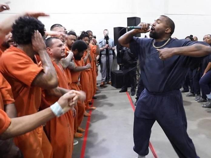 Image result for kanye west visits prisoners