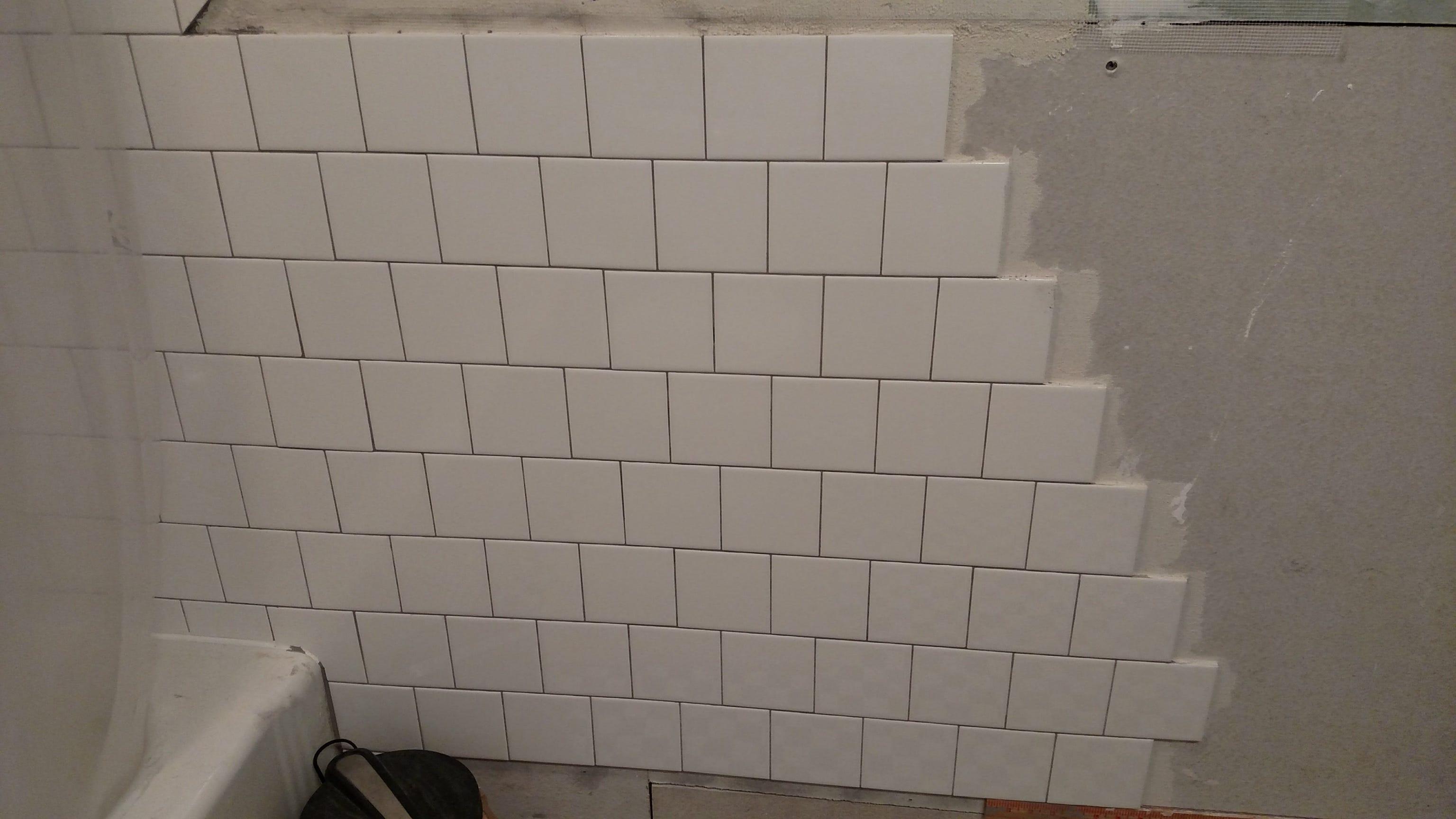 bathroom remodel diy subway tile