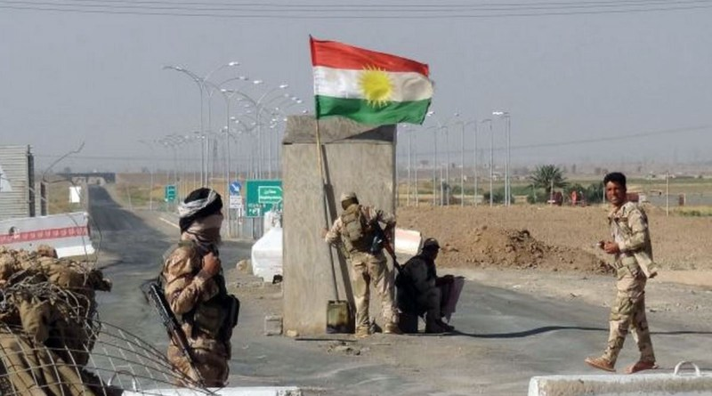 A checkpoint between Erbil and Mosul