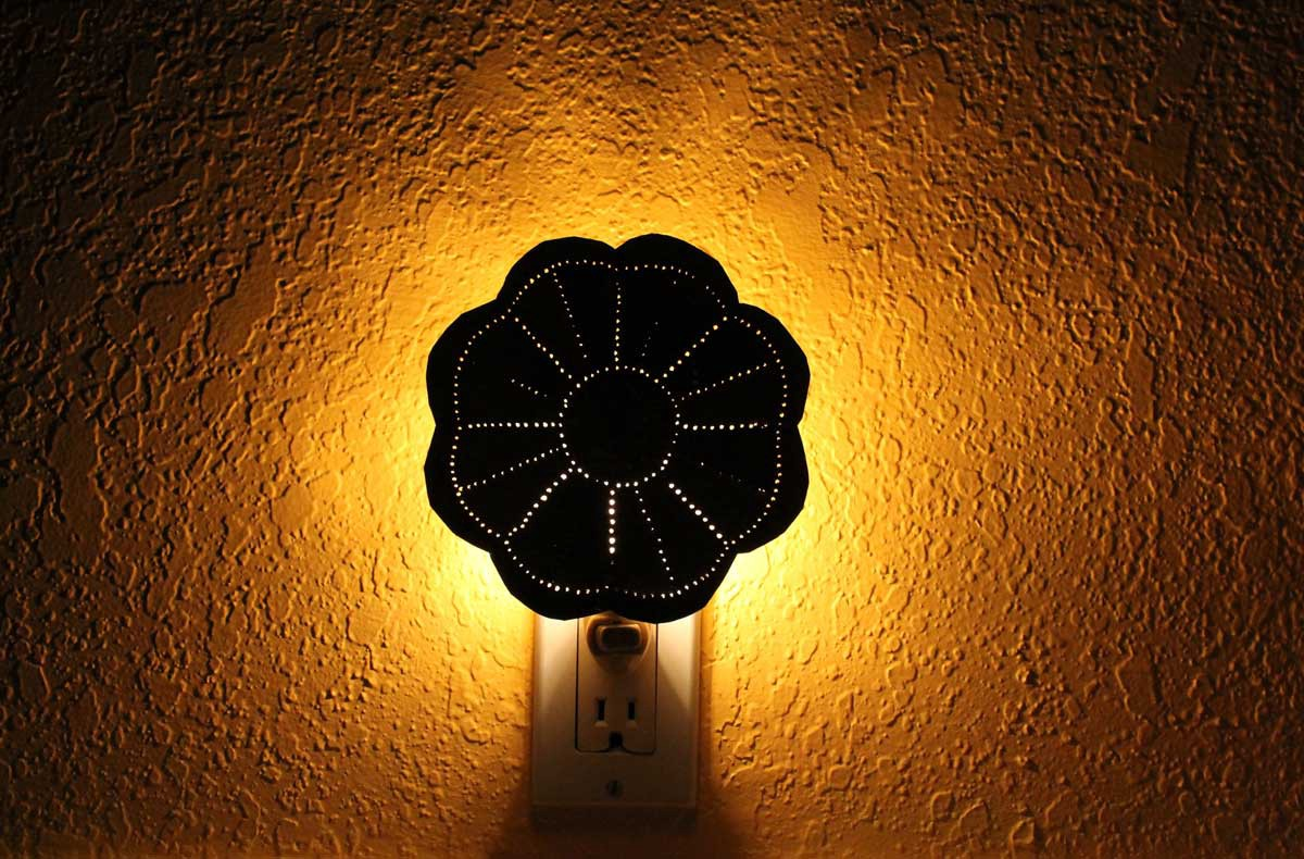 how to make a punched tin lamp shade