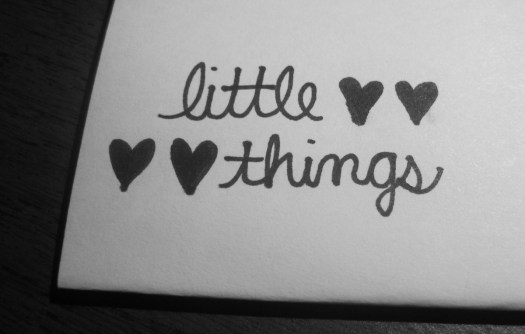 Forget the BIG picture!! LITTLE things matters the most ...