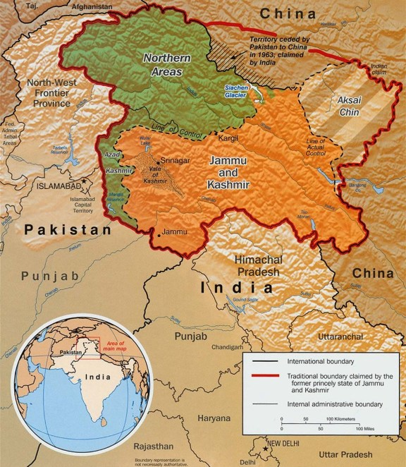 Image result for indian map locate kasmir