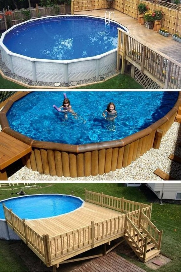 15+ ABOVE GROUND POOL DECK IDEAS ON A BUDGET   by Diymakes ... on Pool Patio Ideas On A Budget id=56600