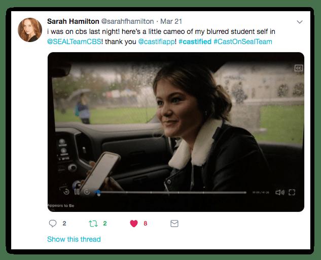 Castified: Sarah Hamilton 1