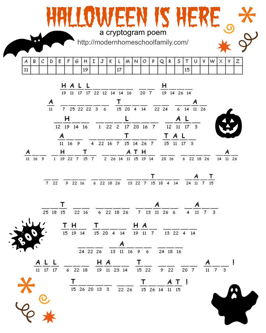 Free Halloween Printable Activity Sheets By Modern Homeschool Family Modern Homeschool Family Medium