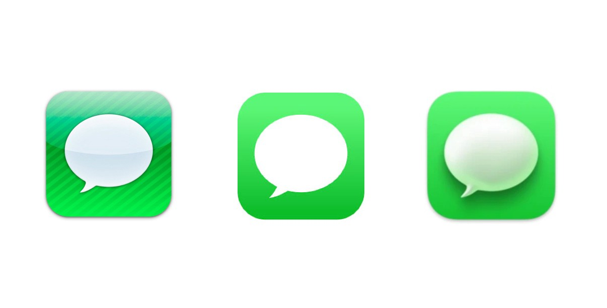 iMessage icon stages