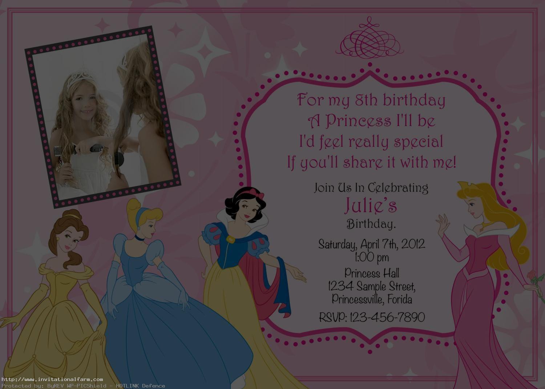 princess birthday invitations template