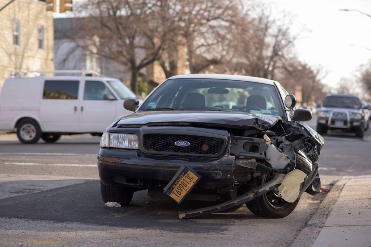 Photo of a crashed car