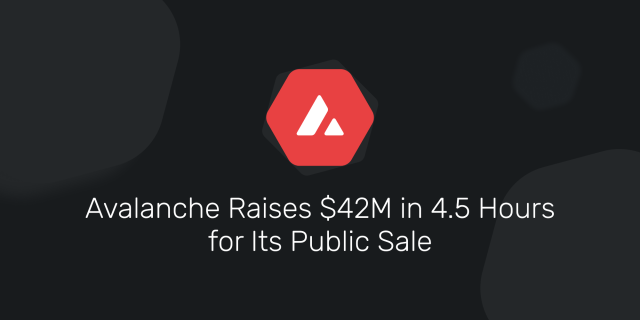 Avalanche Raises $28M in 28.28 Hours for Its Public Sale  by