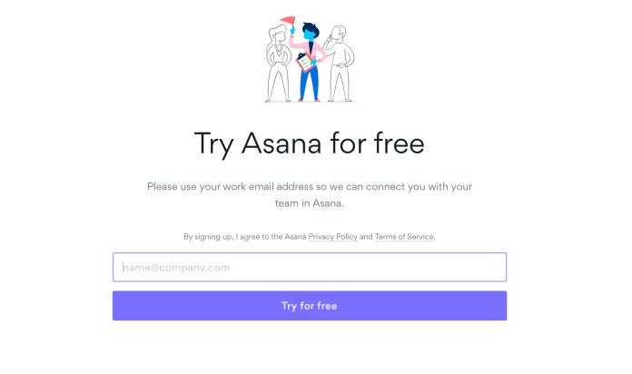 Asana registration form