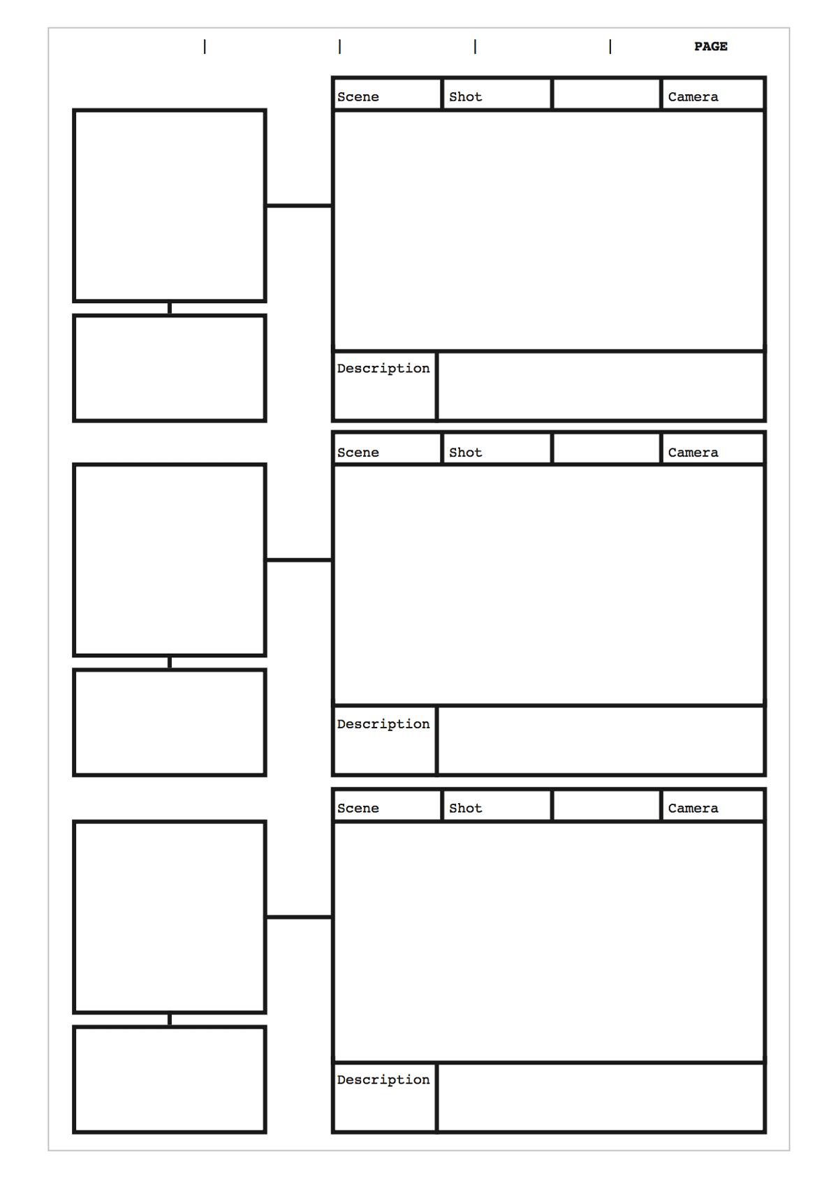 Free Storyboard Templates Do You Need A Print Ready