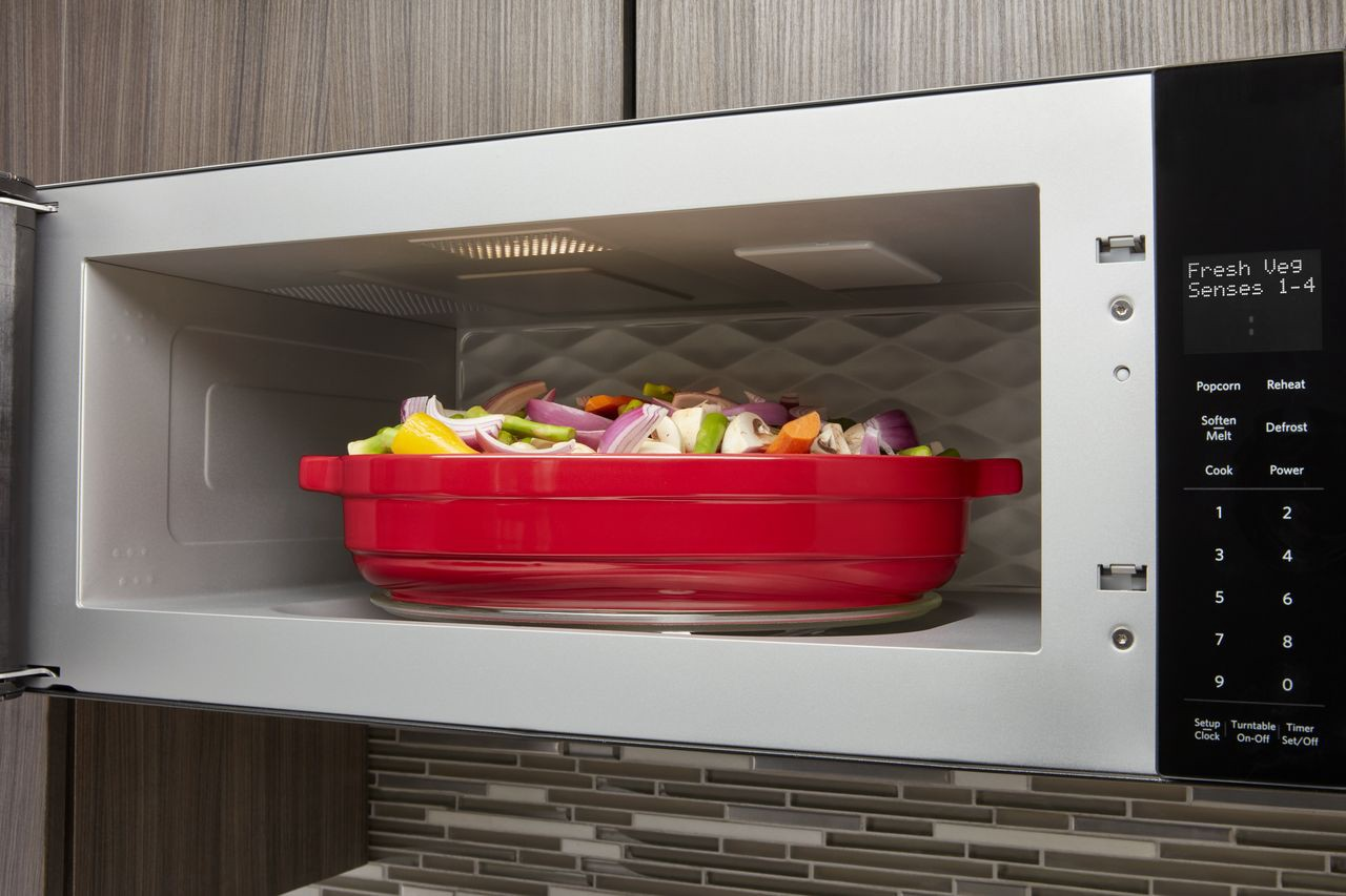 new compact microwave hood combination