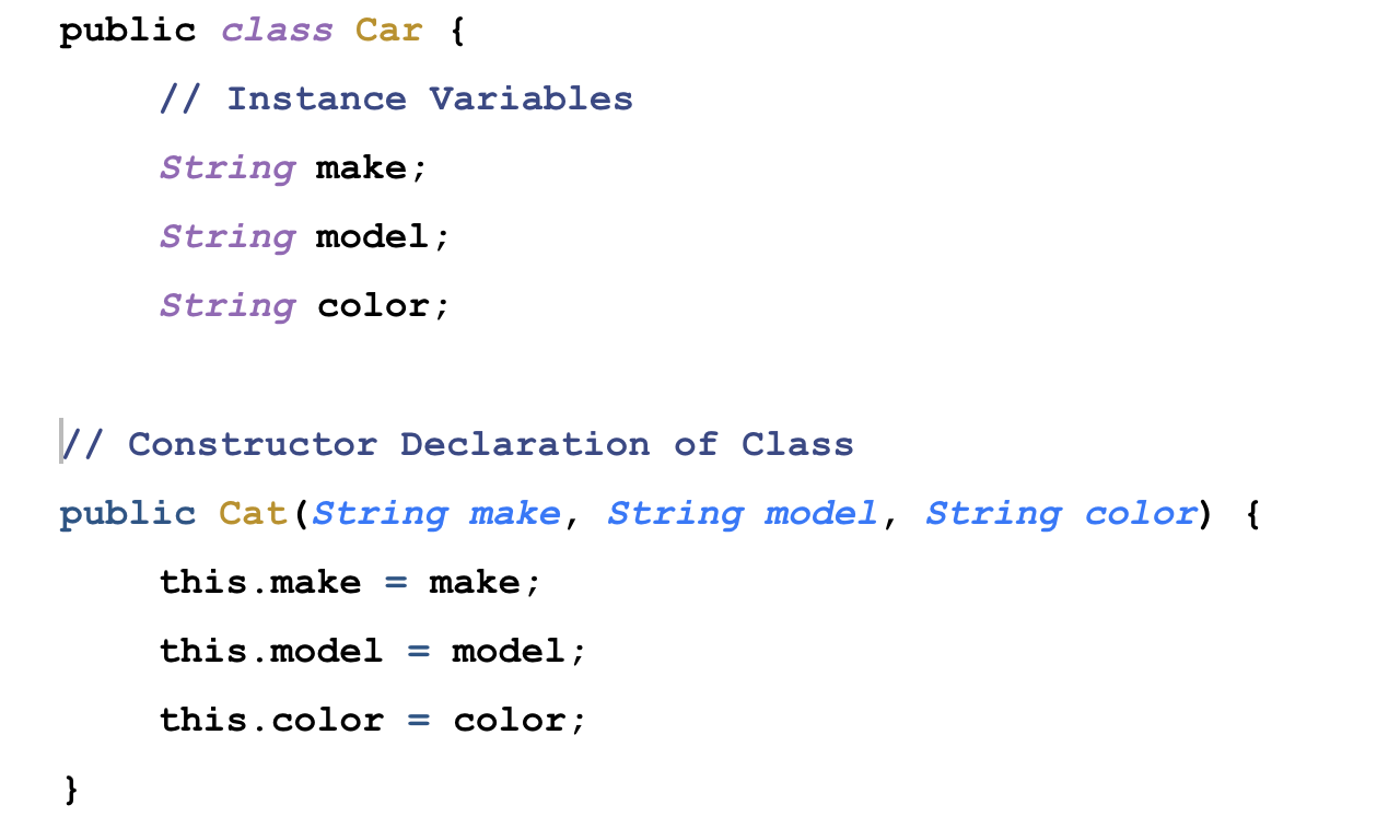 Java Instantiating An Object