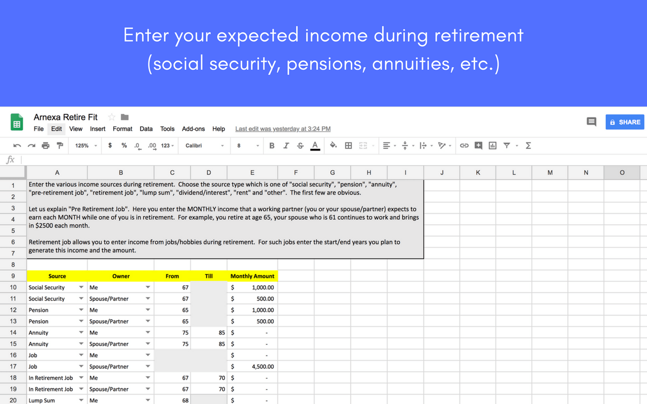 The Arnexa Retirement Calculator Powerful Yet Simple