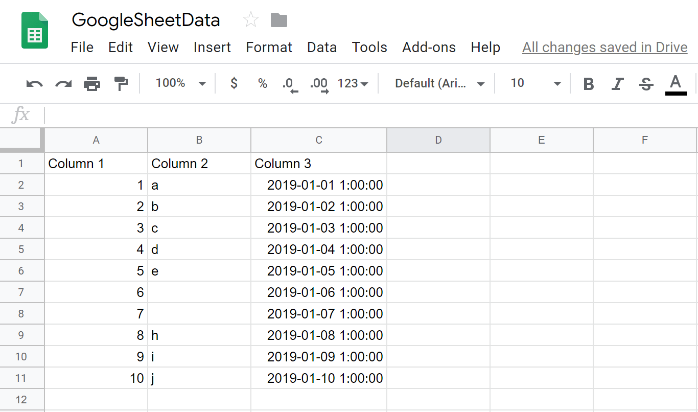 Writing Sheets Data To Mysql Using Python
