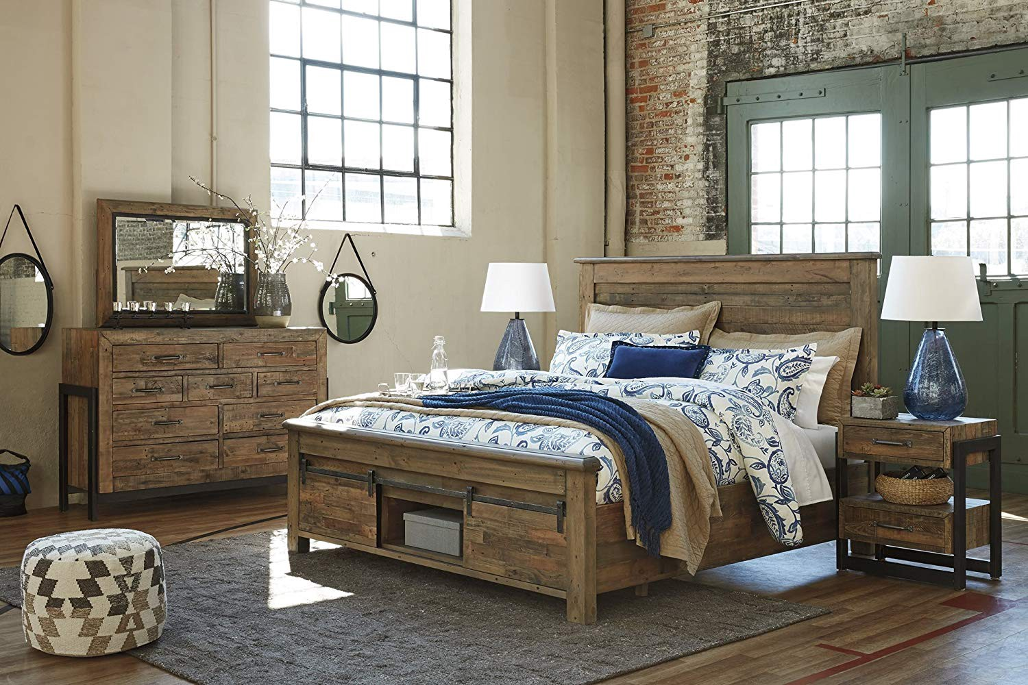 Ashley Furniture Sommerford 5 Pc Bed Set In Brown B775 By Premier Furniture Medium
