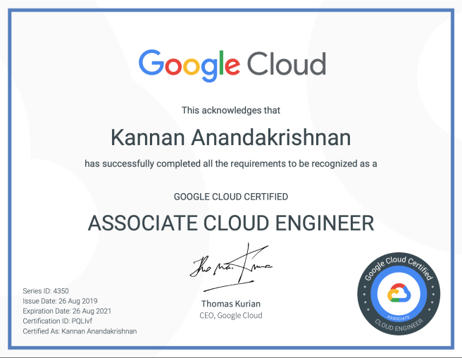 GCP associate certification
