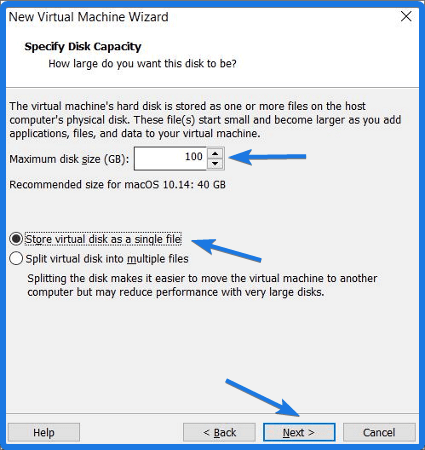 Store virtual disk as a single file