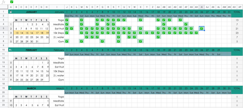 Sheets Calendar Template 20