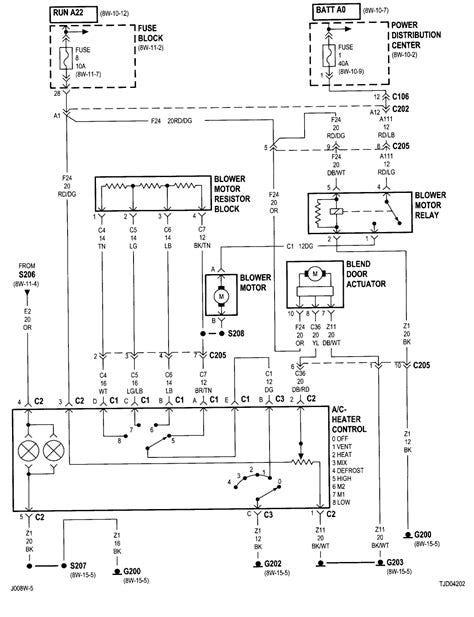 jeep yj engine diagram fan switch  description wiring