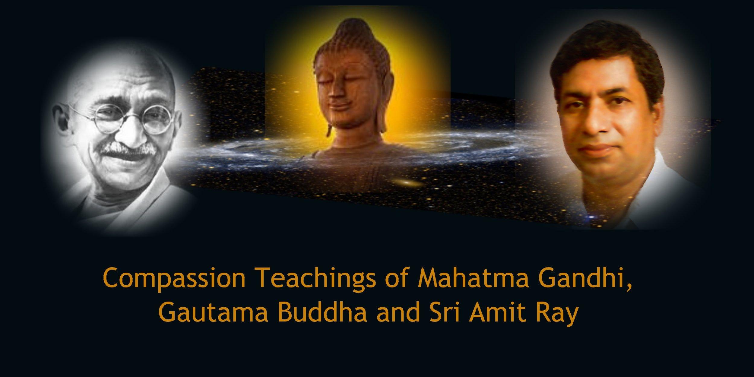 Compassion Teachings Of Mahatma Gandhi Gautama Buddha And Sri Amit Ray By Jeff Coleman Medium