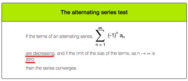 Alternating Series Test - Calculus Basics - Medium