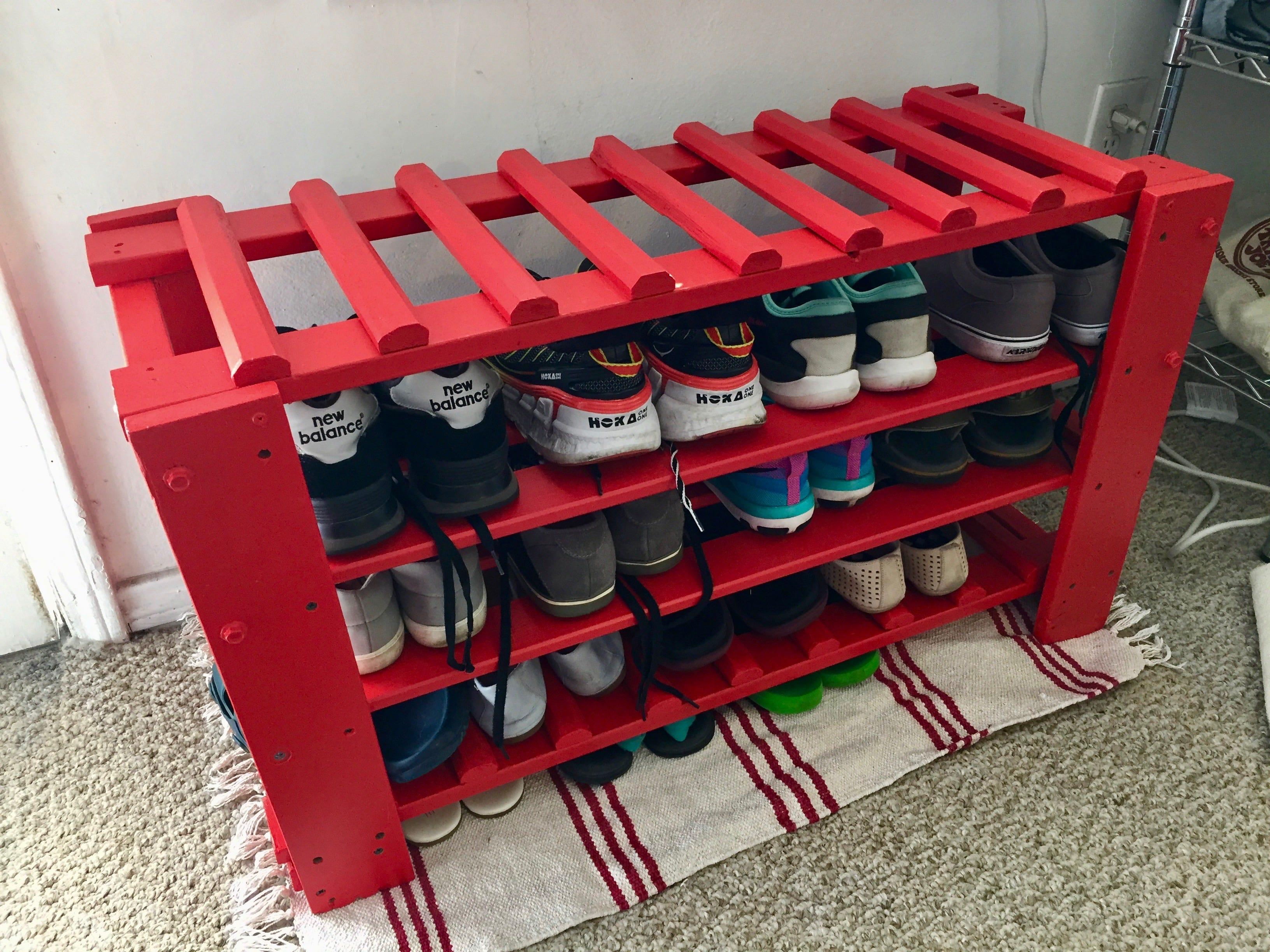 diy shoe rack modifying replacing