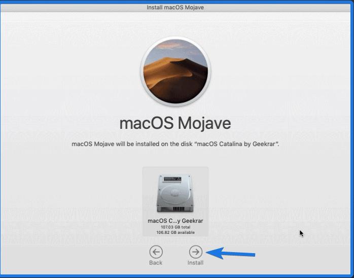 macOS disk