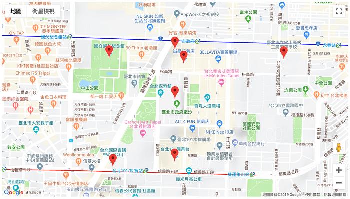 多個標記的google map