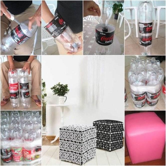 Kerajinan Tempat Duduk Dari Botol Bekas